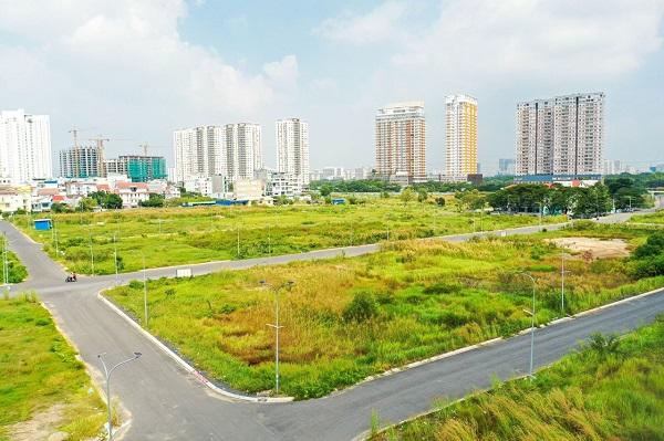 Sau hơn 15 năm, Dự án Thái Sơn 2 vẫn trong tình trạng cỏ mọc um tùm. (Ảnh: PV)