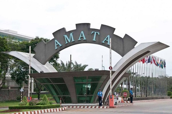 Khu công nghiệp Amata tại thành phố Biên Hòa, Đồng Nai.