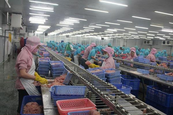 Chế biến cá tra thành các sản phẩm xuất khẩu tại một doanh nghiệp ở Khu công nghiệp Trà Nóc 2, TP Cần Thơ.