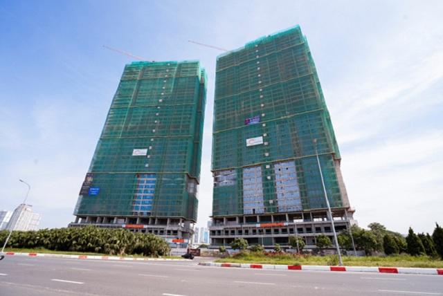 Hai tòa tháp 44 tầng The Matrix One đã hoàn thiện phần thô