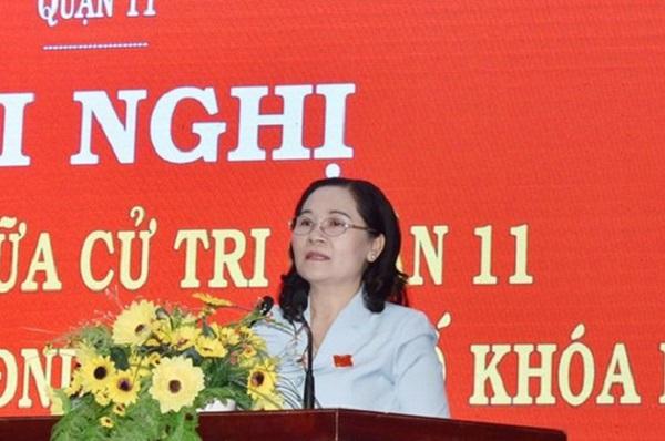 Chủ tịch HĐND TPHCM Nguyễn Thị Lệ trả lời cử tri chiều 19/11.