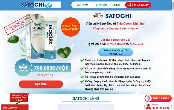 Người tiêu dùng nên cảnh giác khi mua sản phẩm Satochi trên một số website