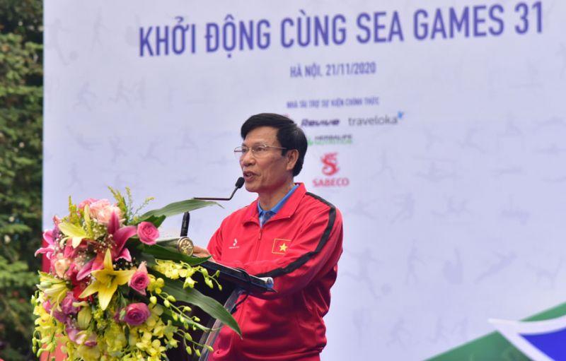 Bộ trưởng Bộ Văn hóa, Thể thao và Du lịch Nguyễn Ngọc Thiện phát biểu tại buổi lễ