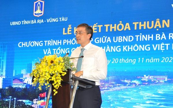 Ông Đặng Ngọc Hòa phát biểu tại lễ ký kết