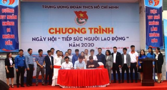 Ký kết liên tịch giữa doanh nghiệp, trường Đại học, Cao đẳng và Trung tâm Hướng nghiệp dạy nghề và Giới thiệu việc làm Thanh Hóa.