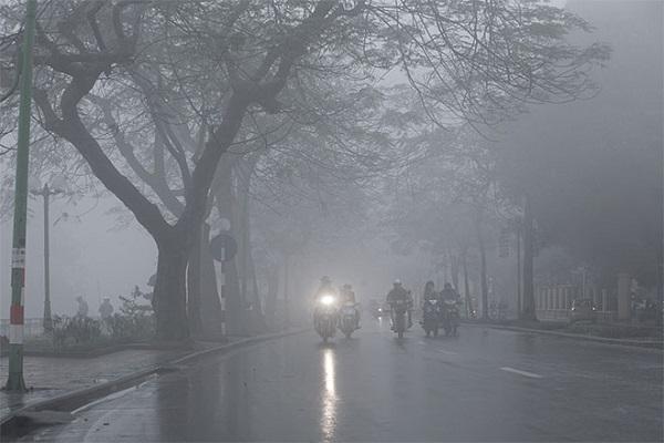 Khu vực Bắc Bộ sáng sớm sương mù