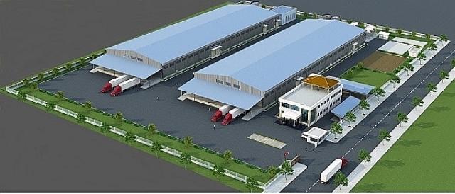 Phối cảnh dự án Nhà máy cán thép Dana-Ý có quy mô 500.000 tấn sản phẩm/năm.