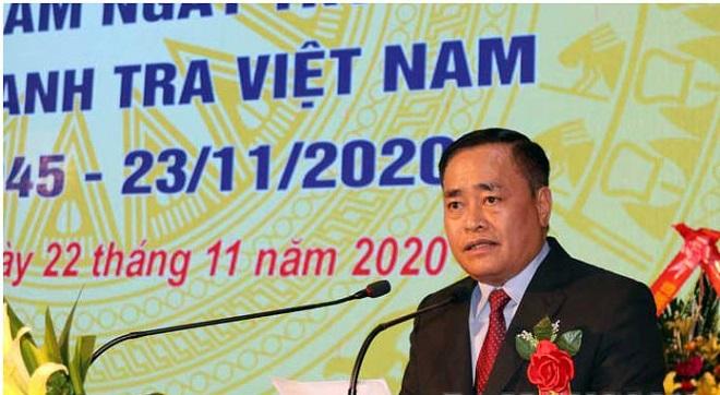 Chủ tịch UBND tỉnh Lạng Sơn, Hồ Tiến Thiệu phát biểu tại hội nghị