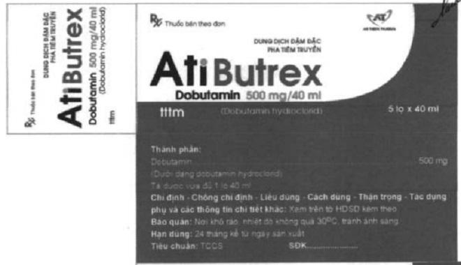 Thu hồi thuốc Atibutrex do Công ty cổ phần dược phẩm An Thiên sản xuất