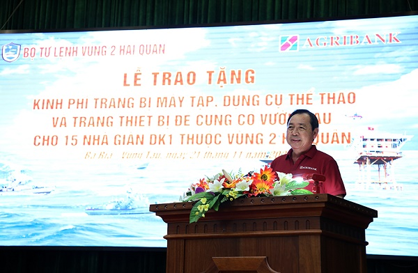 Ông Tiết Văn Thành, Thành viên HĐTV, Tổng Giám đốc phát biểu tại buổi lễ
