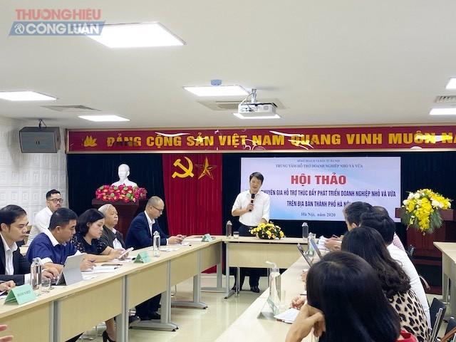 Ông Lê Văn Quân – Giám đốc trung tâm hỗ trợ DNNVV taị Hội nghị
