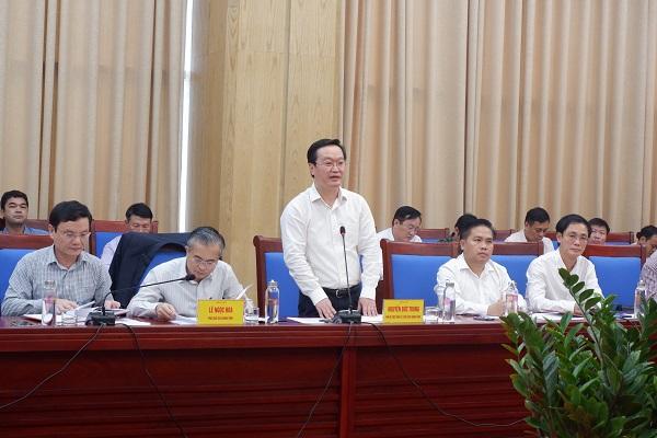 Ông Nguyễn Đức Trung - Chủ tịch UBND tỉnh kết luận tại buổi làm việc