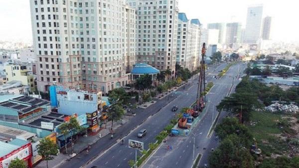 Đường Nguyễn Hữu Cảnh đoạn phải nâng cao.