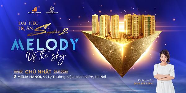 """Sự kiện """"Melody of the sky"""" nhằm tri ân khách hàng đã tin tưởng và lựa chọn Sapphire 2 – TNR Goldmark City."""