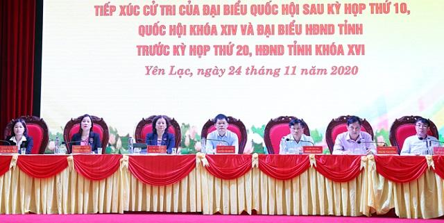 Đại biểu Quốc hội, HĐND tỉnh tiếp xúc cử tri huyện Yên Lạc