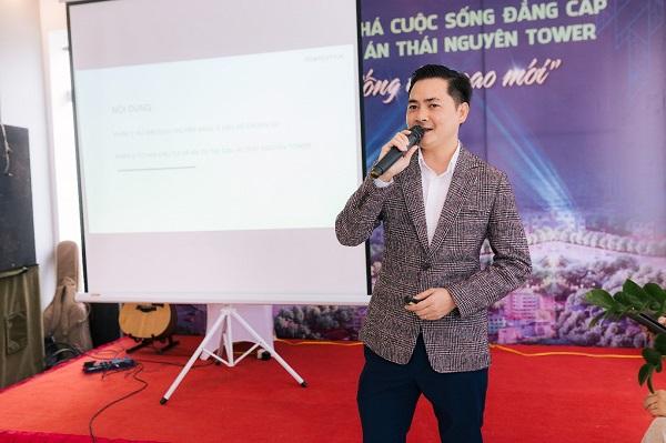 Ông Đỗ Văn Kiên – Tổng Giám Đốc PropertyX Hà Nội chia sẻ cơ hội đầu tư và an cư tại dự án Thái Nguyên Tower.