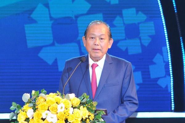 Phó Thủ tướng Chính phủ Trương Hòa Bình phát biểu tại Lễ Công bố