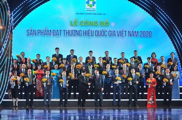 Lễ Công bố sản phẩm đạt Thương hiệu quốc gia Việt Nam năm 2020