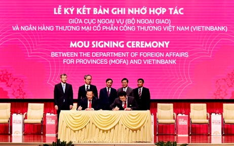 Lễ ký kết Bản ghi nhớ hợp tác giữa Cục Ngoại vụ - Bộ Ngoại giao và VietinBankCầu nối quan hệ hợp tác Việt Nam - Nhật Bản