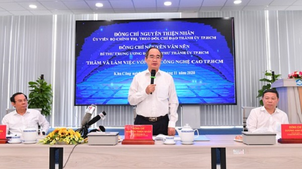 Ông Nguyễn Thiện Nhân phát biểu tại buổi làm việc.