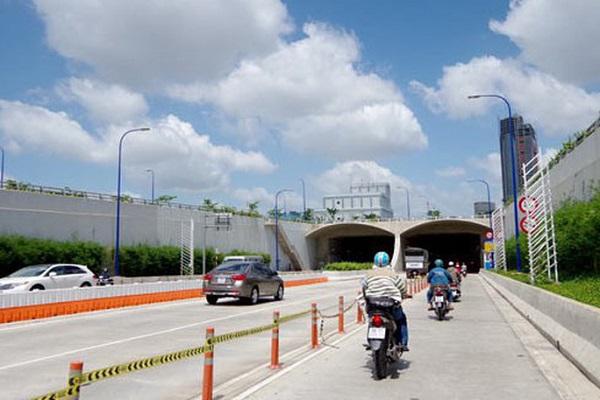Ngày 28/11, sau khi qua hầm vượt sông Sài Gòn, ôtô sẽ bị cấm lưu thông vào làn hỗn hợp của đường Võ Văn Kiệt.