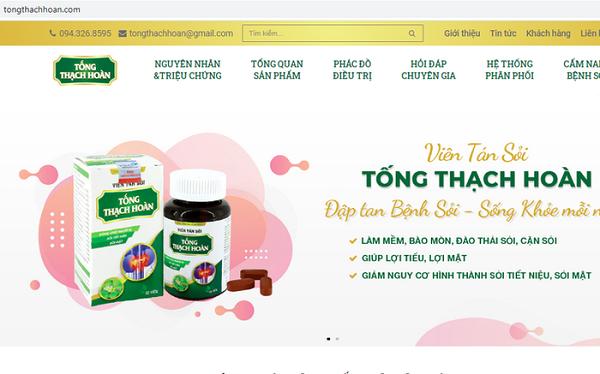 Hình ảnh quảng cáo trên trang tongthachhoan.com (Ảnh chụp màn hình)