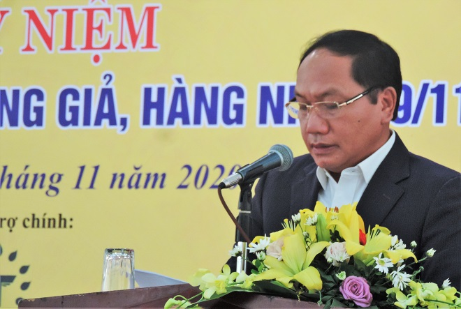Chánh Văn phòng thường trực Ban chỉ đạo 389 quốc gia, Đàm Thanh Thế phát biểu tại lễ kỷ niệm