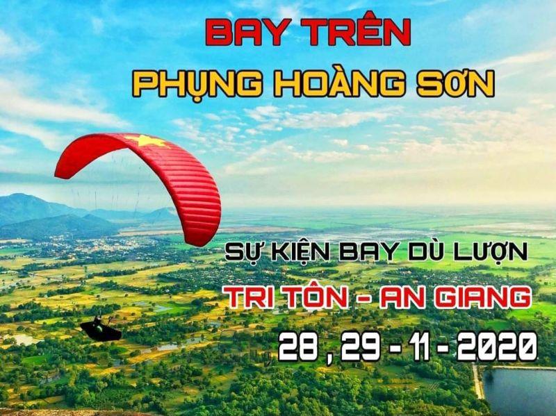Bay trên Phụng Hoàng Sơn lần đầu tiên được tổ chức tại An Giang