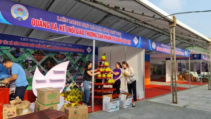 Các gian hàng tại Hội chợ đã được hoàn tất để phục vụ trưng bày sản phẩm OCOP.
