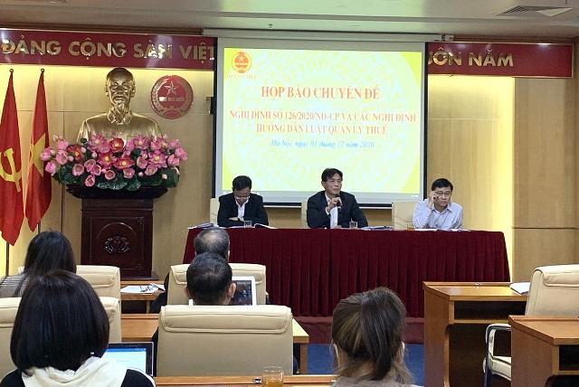 họp báo chuyên đề giới thiệu về một số điểm mới đáng chú ý của Nghị định số 126/2020/NĐ-CP
