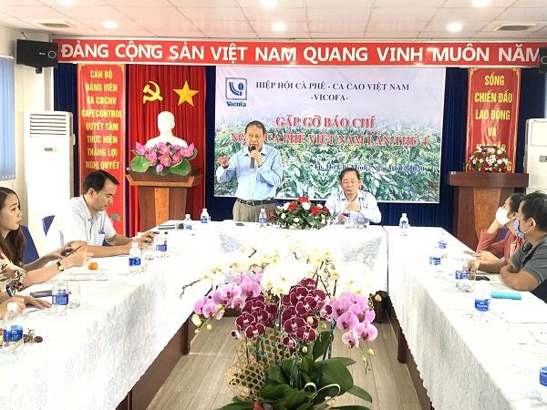 Hiệp hội cà phê ca cao Việt Nam (Vicofa) tổ chức họp báo về sự kiện ngày Cà phê Việt Nam