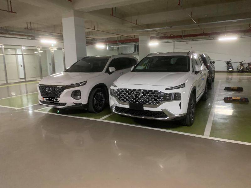 Hyundai Santa 2021 đọ dáng với Santa Fe 2020. Ảnh: Hội Hyundai SantaFe Việt Nam