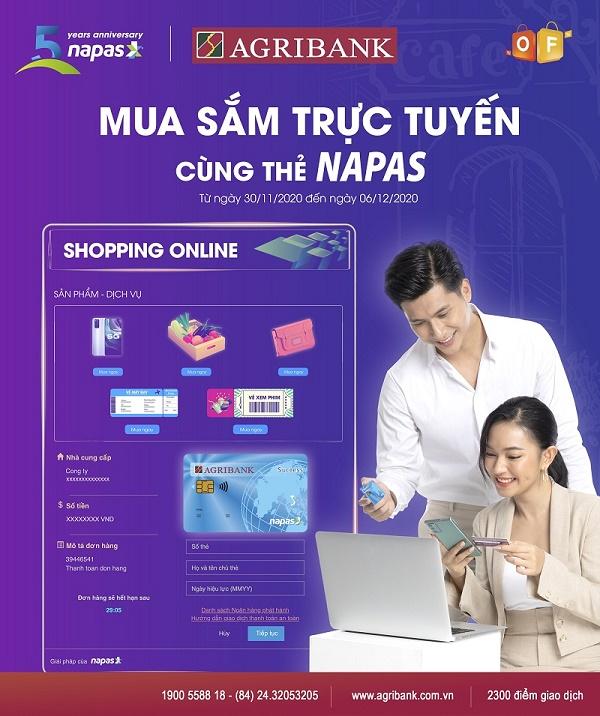 Tuần lễ mua sắm trực tuyến nhận quà khủng cùng thẻ Agribank Napas