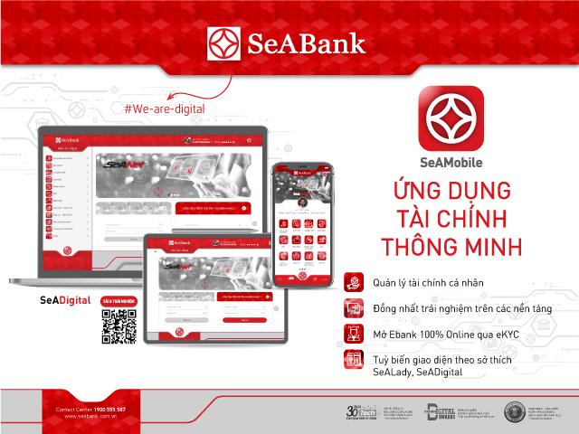 dịch vụ ngân hàng số SeAMobile của SeABank vừa nâng cấp đã đồng nhất tất cả trải nghiệm