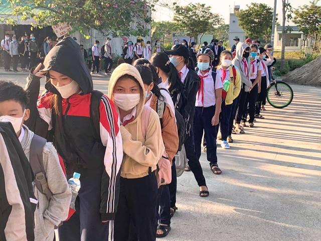 Học sinh trường THCS Đàm Quang Trung, quận Liên Chiểu, TP.Đà Nẵng