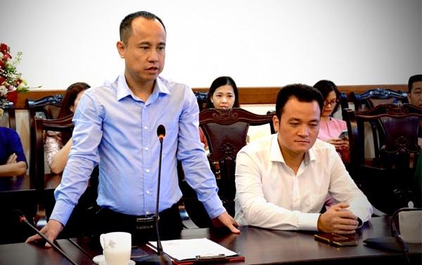 Ông Phan Quốc Nghĩa được ủy quyền là Người phát ngôn UBND tỉnh Lào Cai. Ảnh VOV