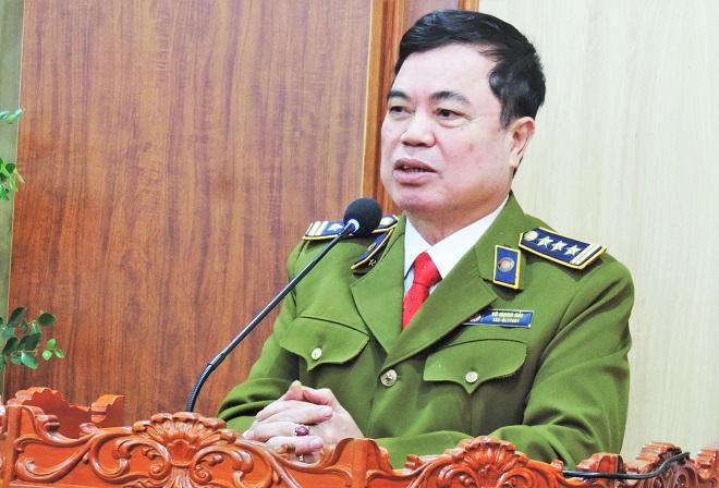 Trưởng Văn phòng đại diện Hiệp hội VATAP tại Bắc Ninh, Vũ Mạnh Hải phát biểu tại lễ công bố