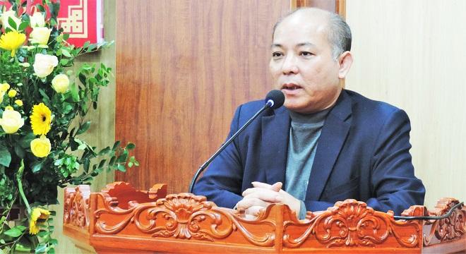 Chủ tịch HĐQT Công ty Dược phẩm Bắc Ninh, Nguyễn Quang Bang chúc mừng Văn phòng đại diện tại Bắc Ninh