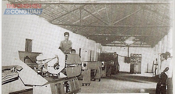 Hình ảnh dây chuyền sản xuất Sibaura đầu tiên của Nhựa Tiền Phong