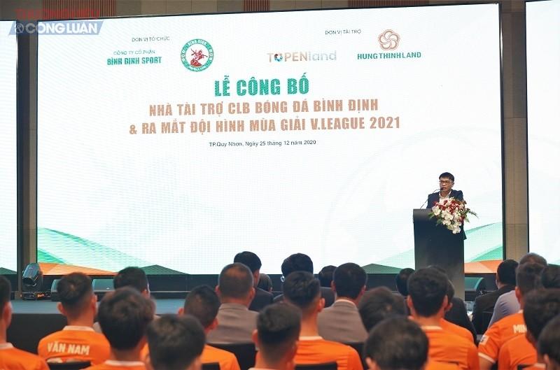 Ông Võ Văn Khang - Chủ tịch Công ty Topenland phát biểu tại sự kiện