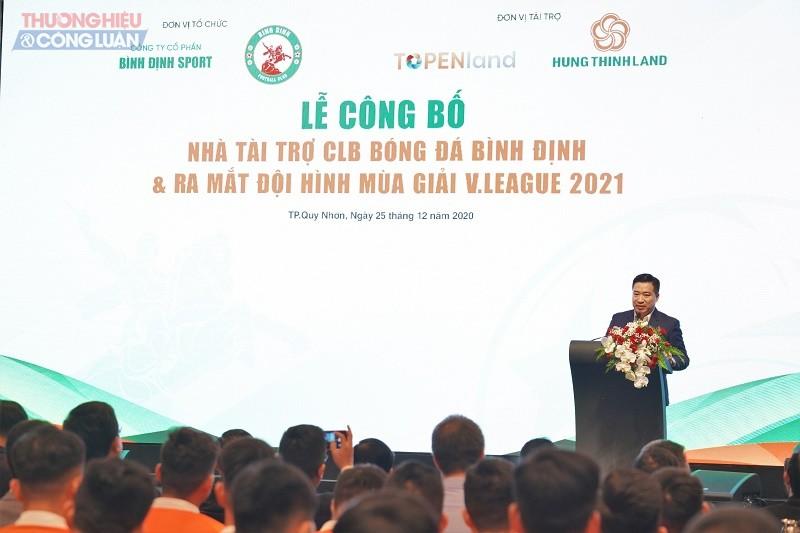 Ông Ngyễn Đình Trung - Chủ tịch Tập đoàn Hưng Thịnh phát biểu tại sự kiện