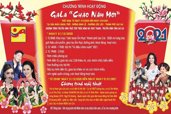 """Thành phố Lào Cai tổ chức chương trình Gala """"Chào năm mới"""""""