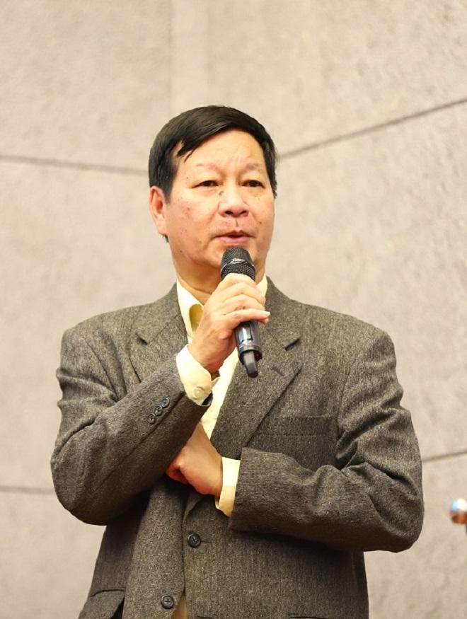 Ông Lê Khắc Hiệp - Phó Chủ tịch Tập đoàn Vingroup, Chủ tịch Hội đồng Quản lý Quỹ Đầu tư và Phát triển Tài năng Bóng đá trẻ Việt Nam PVF phát biểu tại buổi lễ tốt nghiệp học viên 2020