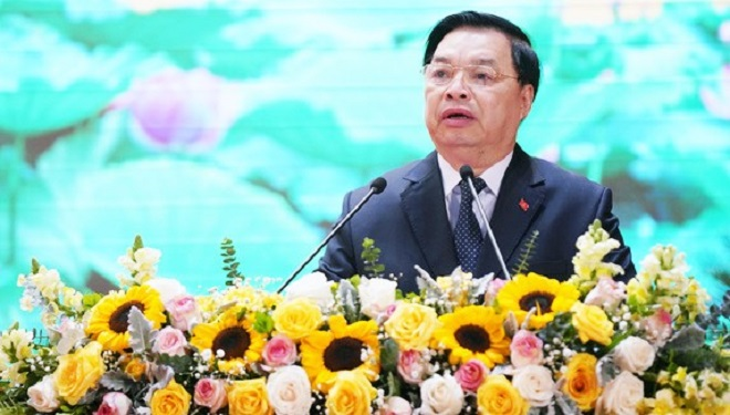 Phó Trưởng Ban Tuyên giáo Trung ương, Lê Mạnh Hùng phát biểu tại Hội nghị