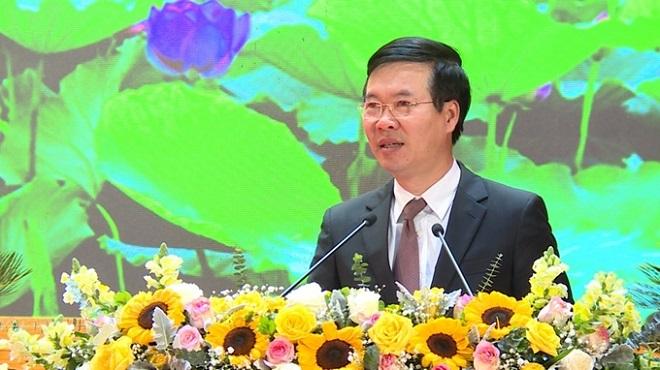 Trưởng Ban Tuyên giáo Trung ương, Võ Văn Thưởng phát biểu chỉ đạo tại Hội nghị