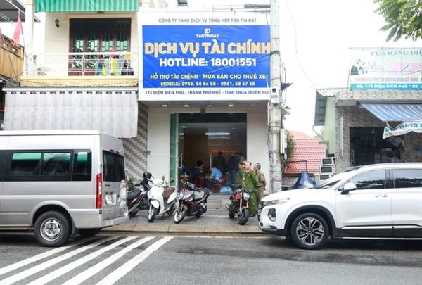 Một trong 5 cơ sở cho vay nặng lãi tại TP. Huế bị Công an Thừa Thiên - Huế triệt xóa