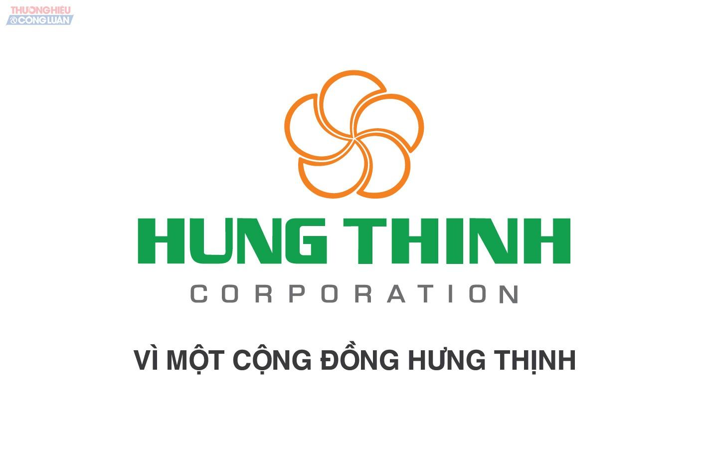 Logo, slogan Tập đoàn Hưng Thịnh Tập đoàn bất động sản uy tín hàng đầu thị trường với 18 năm kinh nghiệm