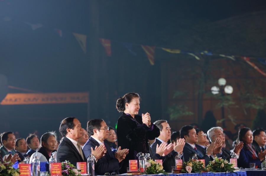Dự tại điểm cầu cảng Hoàng Diệu thành phố Hải Phòng có các đồng chí Nguyễn Thị Kim Ngân, Chủ tịch Quốc hội.