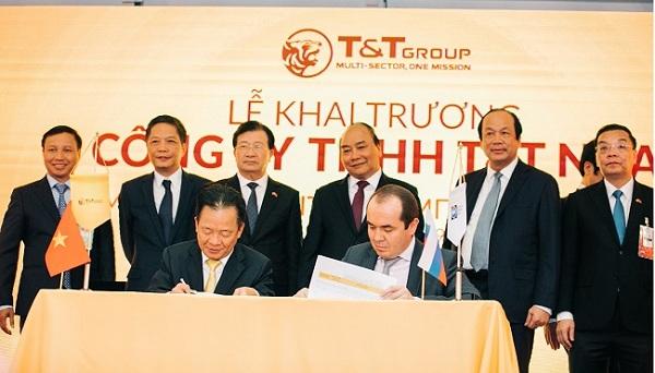 Tập đoàn T&T Group và EABU ký chương trình hành động.