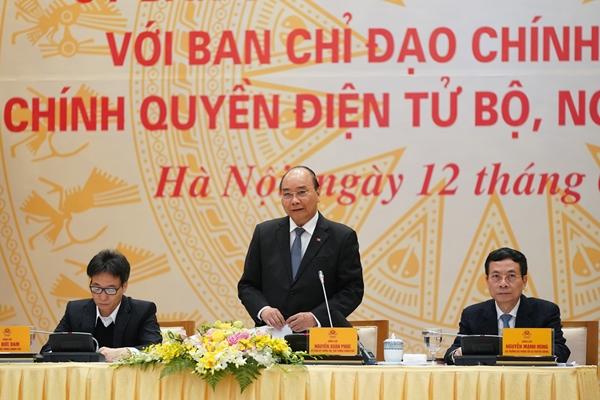 Thủ tướng Nguyễn Xuân Phúc phát biểu tại Hội nghị (Ảnh: VGP/Quang Hiếu)